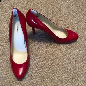 Red Patent Leather Max Studio Pumps (Size 8)